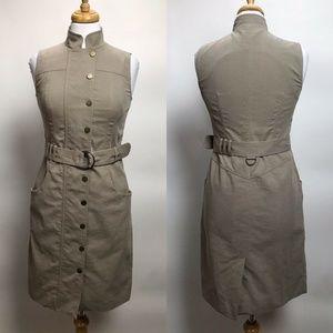 Akris Punto Womens Size 6 Sleeveless Dress Khaki